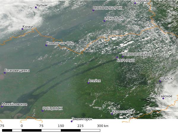 Лёгкая дымка над Новосибирском