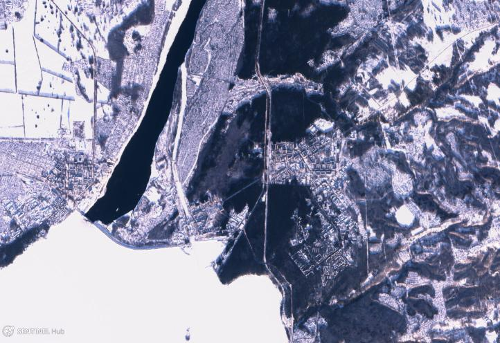 Sentinel-2B view of Akademgorodok, December 24, 2017