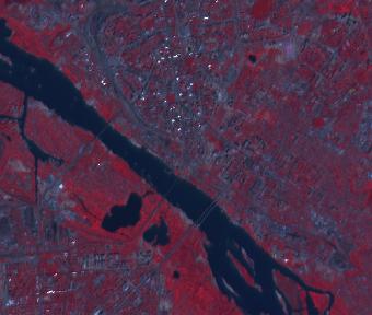 Фрагмент сцены SPOT-2 - центр Новосибирска