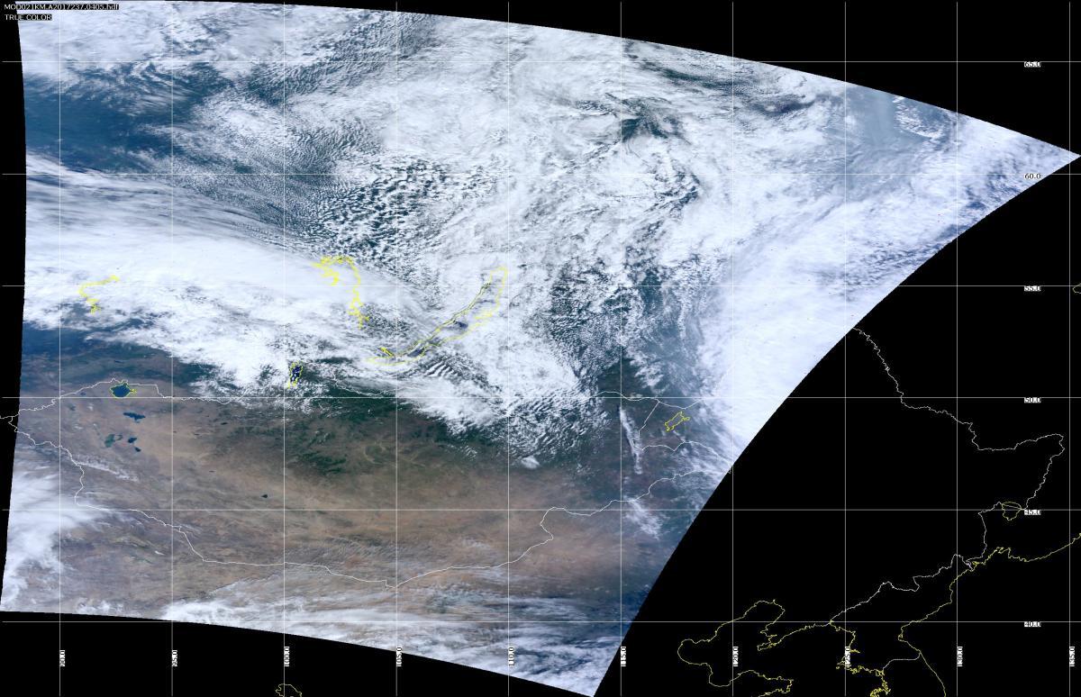 Terra MODIS Aug 25, 2017